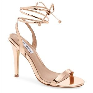 Steve Madden Strappy Gold Heels (Ankle Wrap)